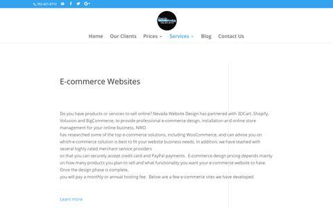 E-Commerce Websites | Nevada Website Design | Henderson | Las Vegas