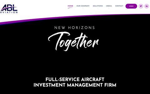 Screenshot of Home Page ablaviation.com - ABL Aviation - Aircraft Leasing - captured Nov. 6, 2018