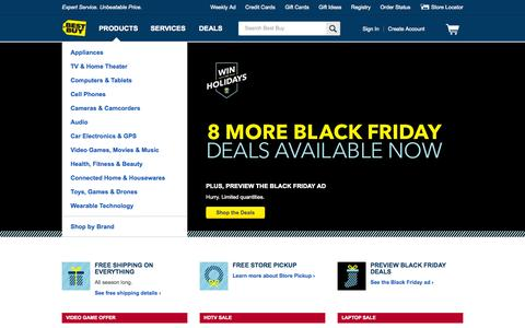 Screenshot of Home Page bestbuy.com - Best Buy: Expert Service. Unbeatable Price. - captured Nov. 19, 2015
