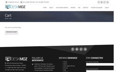Screenshot of Signup Page deskmoz.com - Cart - DeskMoz - captured July 2, 2016
