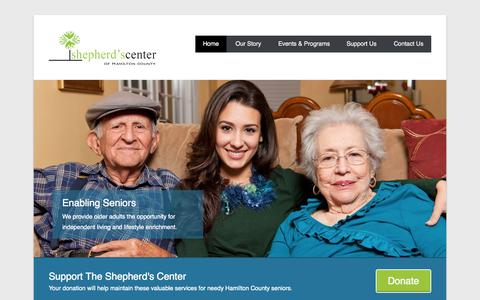 Screenshot of Home Page Menu Page shepherdscenterofhamiltoncounty.org - The Shepherd's Center of Hamilton County - Shepherd Community Center - captured Oct. 9, 2014