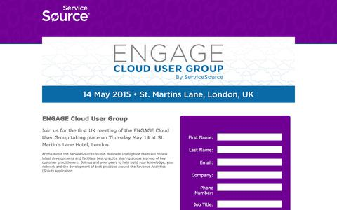 Screenshot of Landing Page servicesource.com - Recurring Revenue Summit 2015 - captured April 13, 2018