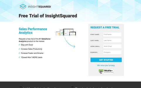 Screenshot of Trial Page insightsquared.com - Free Trial | InsightSquared - captured April 20, 2017