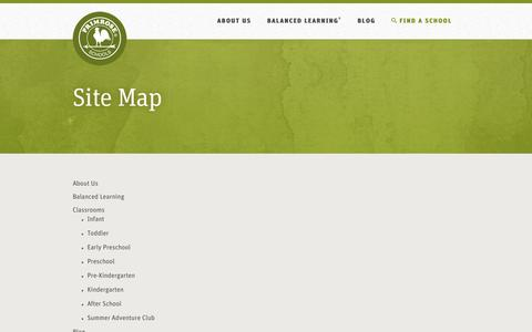 Screenshot of Site Map Page primroseschools.com - Primrose Schools | The Leader in Early Education and Care - captured Dec. 12, 2015