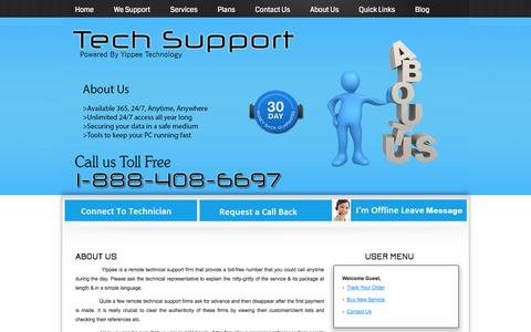 Screenshot of About Page ytechsupport.com - About Us - Online Technical Support for PC and Antivirus Softwares | Call Now 1-888-408-6697 - captured Oct. 7, 2014