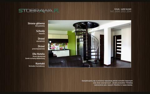 Screenshot of Home Page stobrawa.pl - Stobrawa - Specjaliści od schodów kręconych. Solidne Drzwi Zewnętrzne dla Twojego domu. Schody kręcone - captured Oct. 12, 2015