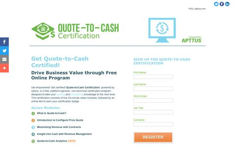Quote to Cash Certification – Apttus