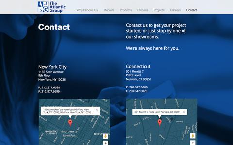 Screenshot of Contact Page atlanticgroupny.com - The Atlantic Group - captured July 6, 2017