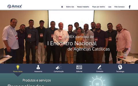 Screenshot of Home Page amexassessoria.com - Amex Marketing e Comunicação Integrada - captured Nov. 20, 2016