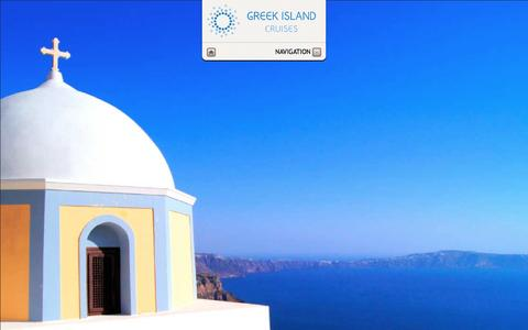 Screenshot of Home Page greekislandcruises.eu - Greek Island Cruises - Welcome - captured Dec. 14, 2015