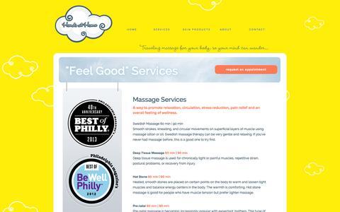 Screenshot of Services Page handsathome.com - Hands At Home - captured Sept. 29, 2014