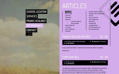 Screenshot of Testimonials Page mckshealinghands.com - MCKS Healing Hands | Testimonials - MCKS Healing Hands - captured Sept. 30, 2014