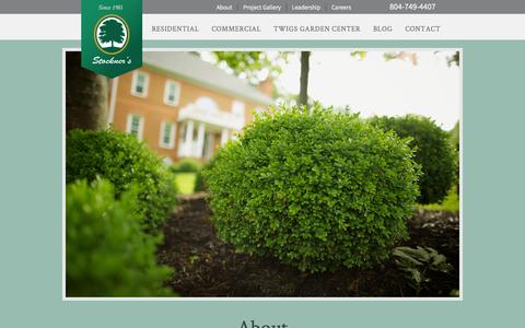 Screenshot of About Page stockners.com - About Stockner's | Landscaping, Hardscaping & Irrigation Richmond, Va - captured Sept. 30, 2014
