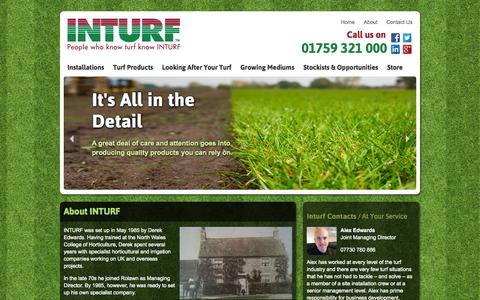 Screenshot of About Page inturf.com - About - captured Sept. 30, 2014