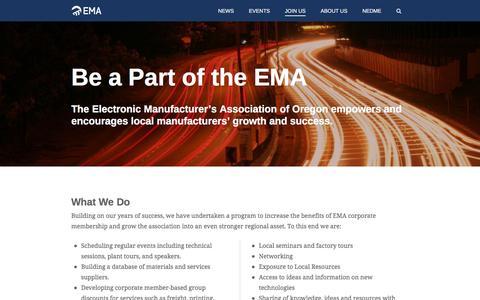 Screenshot of Signup Page ema-oregon.org - Join Us | Electronics Manufacturers Association - captured Nov. 4, 2016