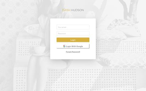 Screenshot of Login Page dashhudson.com - Dash Hudson - captured Aug. 15, 2019