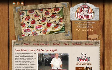 Screenshot of Home Page hogwildbbq.com - Hog Wild Real Memphis BBQ - Memphis, TN - captured Jan. 28, 2015