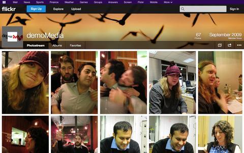 Screenshot of Flickr Page flickr.com - Flickr: demoMedia's Photostream - captured Oct. 23, 2014