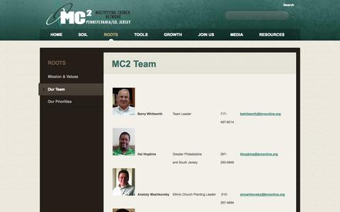 Screenshot of Team Page pennjerseycp.com - Multiplying Church Team (BCPASJ): Harrisburg, PA > MC2 Team - captured Oct. 5, 2014