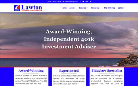 Screenshot of Home Page lawtonrpc.com - Independent 401k Investment Adviser & Fiduciary Compliance Firm | Wisconsin & Illinois - captured July 20, 2017