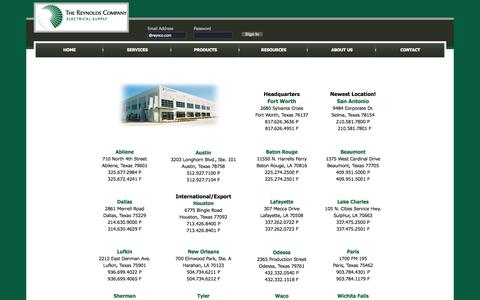 Screenshot of Locations Page reynoldsonline.com - The Reynolds Company - Electrical Distributor | Locations - captured Oct. 6, 2014
