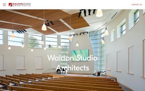 Screenshot of Home Page waldonstudio.com - Waldon Studio Architects | Maryland and DC Architects - captured Nov. 16, 2018