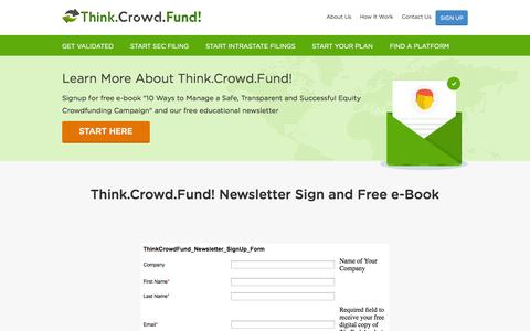 Screenshot of Signup Page thinkcrowdfund.com - Creating a SafeCrowd without Bad Actors | Think.Crowd.Fund! - captured Oct. 9, 2014