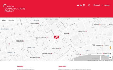 Screenshot of Contact Page londoncommunications.co.uk - Contact - captured Nov. 11, 2018