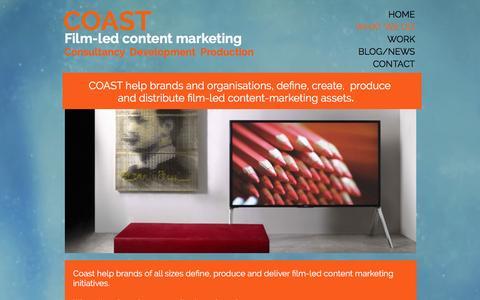 Screenshot of Team Page coasthouse.com - What  we do Coast, coast house, brand content, content marketing, - captured Nov. 8, 2016