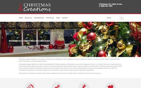 Screenshot of Home Page christmas-creations.com - Christmas Creations - captured Jan. 28, 2016