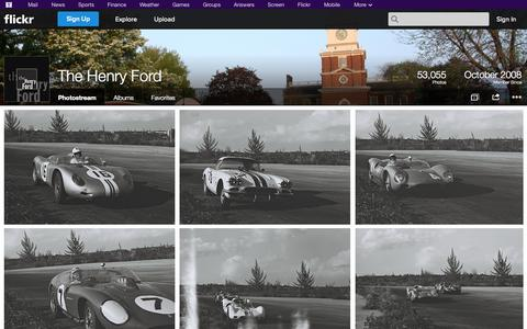 Screenshot of Flickr Page flickr.com - Flickr: The Henry Ford's Photostream - captured Oct. 25, 2014