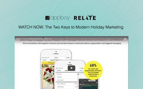 Screenshot of Landing Page appboy.com - Holiday Marketing Webinar | Appboy - captured Oct. 21, 2016