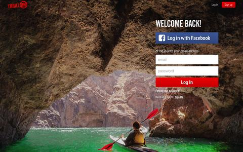 Screenshot of Login Page thrillon.com - Welcome back! - Thrill On - Thrill On - captured July 15, 2015