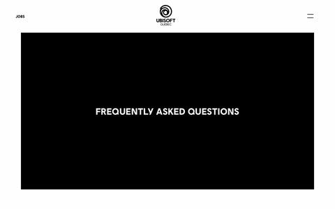 Screenshot of FAQ Page ubisoft.com - Frequently Asked Questions - Ubisoft Québec - captured Nov. 8, 2019