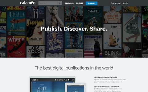 Screenshot of About Page calameo.com - Calaméo - About us - captured April 2, 2018