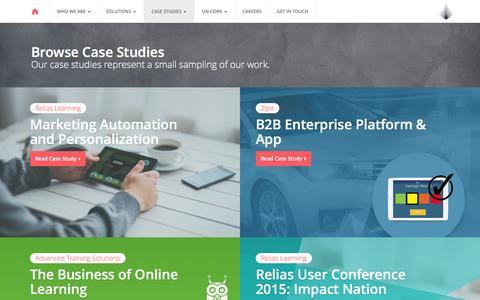 Screenshot of Case Studies Page ikonicmedia.com - Case Studies | ikonic - captured Feb. 11, 2016