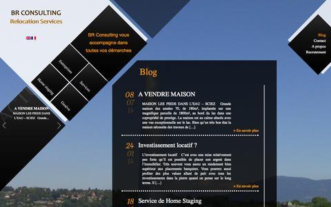 Screenshot of Blog br-consulting.ch - Découvrez notre blog 2014 - captured Oct. 4, 2014