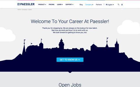Career at Paessler