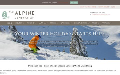 Screenshot of Home Page thealpinegeneration.com - The Alpine Generation - The Alpine Generation - captured Oct. 19, 2018