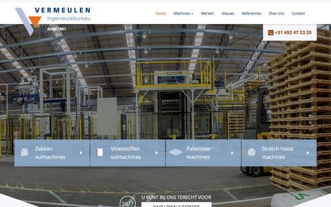 Screenshot of Home Page vermeuleningenieursbureau.nl - Vermeulen Ingenieursbureau - Vermeulen Ingenieursbureau B.V. - captured June 17, 2017