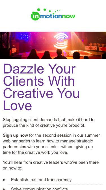 Balancing Client Demands with Creative | inMotionNow
