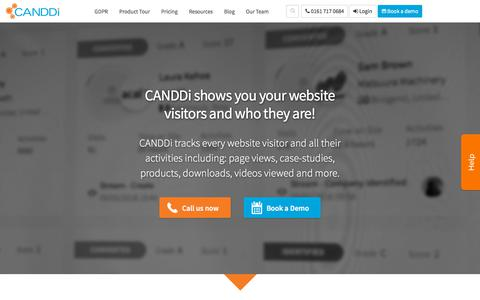 Screenshot of Products Page canddi.com - Track Visitors to Your Website with CANDDi Software Products - captured June 21, 2018