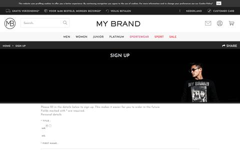 Screenshot of Signup Page my-brand.com - MY BRAND - My Brand Official Store - captured Jan. 28, 2018