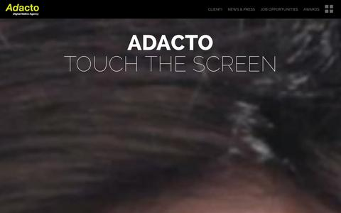 Screenshot of Home Page adacto.it - Home - Adacto - captured Sept. 30, 2014