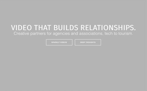 Screenshot of Home Page digitalbard.com - Digital Bard   Video marketing that builds relationships. - captured Sept. 25, 2015