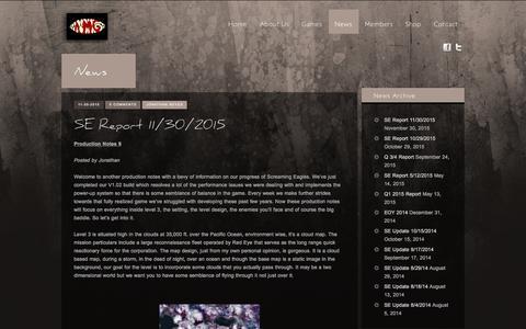 Screenshot of Press Page amaniacalgame.com - News - A Maniacal Game - captured Dec. 8, 2015