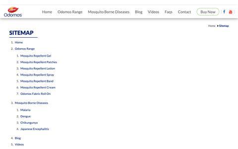 Screenshot of Site Map Page dabur.com - HTML Sitemap – Odomos Protect - captured Oct. 24, 2018