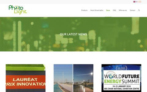 Screenshot of Press Page photolight.eu - News - Photolight by ABEL - captured Sept. 28, 2018