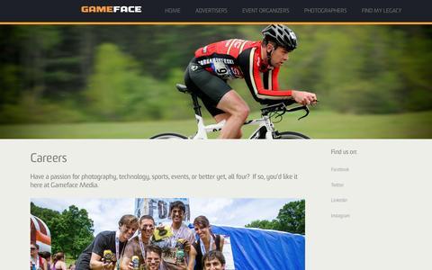 Screenshot of Jobs Page gamefacemedia.com - Careers - Gameface Media - captured Dec. 7, 2015