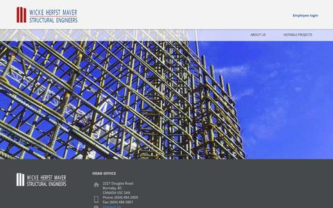 Screenshot of Home Page whmengineers.com - WHM Structural Engineers - captured June 21, 2015